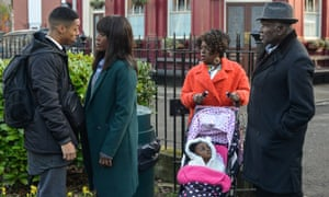 Fox and friends: Denise finds herself in an argument with Keegan in EastEnders.