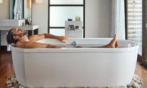 Ditch the phone and have a bath … one way to tackle stress.