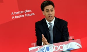 Ed Miliband at a campaign event at Pensby High School in north-west Engand
