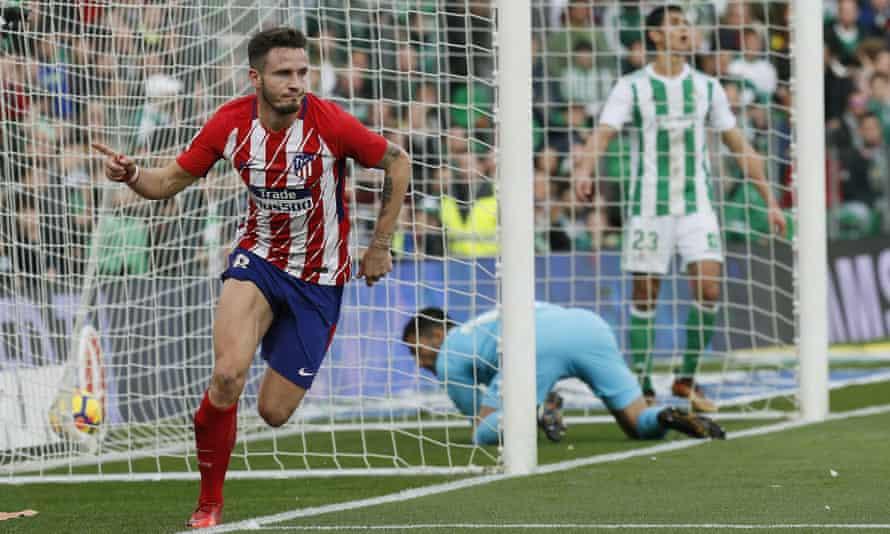 Saúl Níguez scores the only goal as Atlético beat Betis.