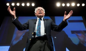 Bernie Sanders says his campaign 'tells the powerful special interests who control so much of our economic and political life that we will no longer tolerate the greed of Wall Street, corporate America and the billionaire class'.