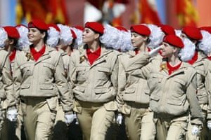 Cadets march in Moscow