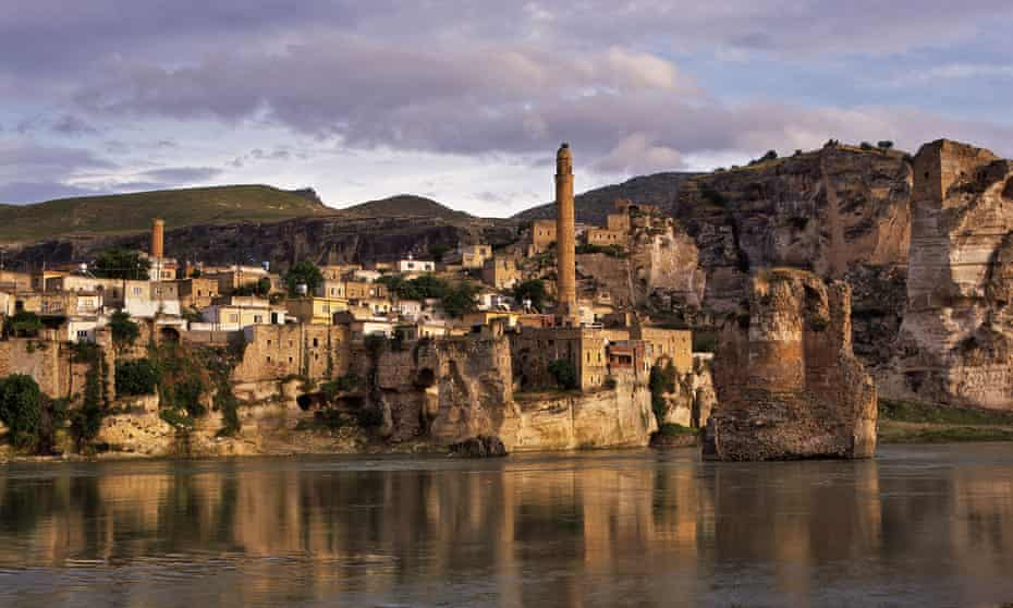 The ancient cave-city of Hasankeyf on the Tigris River.
