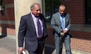 Mohammed Zaman, 52 (right) leaving Teesside crown court.