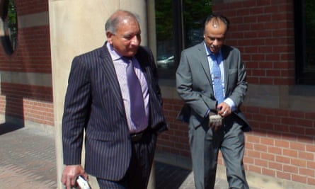 Mohammed Zaman (right) seen leaving Teesside crown court.