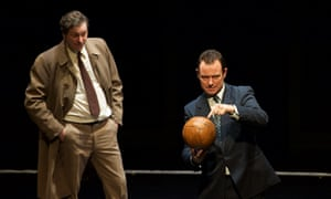 Tony Bell and Andrew Lancel in Red Ladder's production of The Damned United.