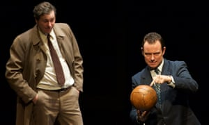 Sharp-witted … Andrew Lancel, right, as Brian Clough with Tony Bell as Peter Taylor, in The Damned United.