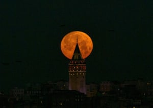 Galata Tower in Istanbul, Turkey, acquires a halo