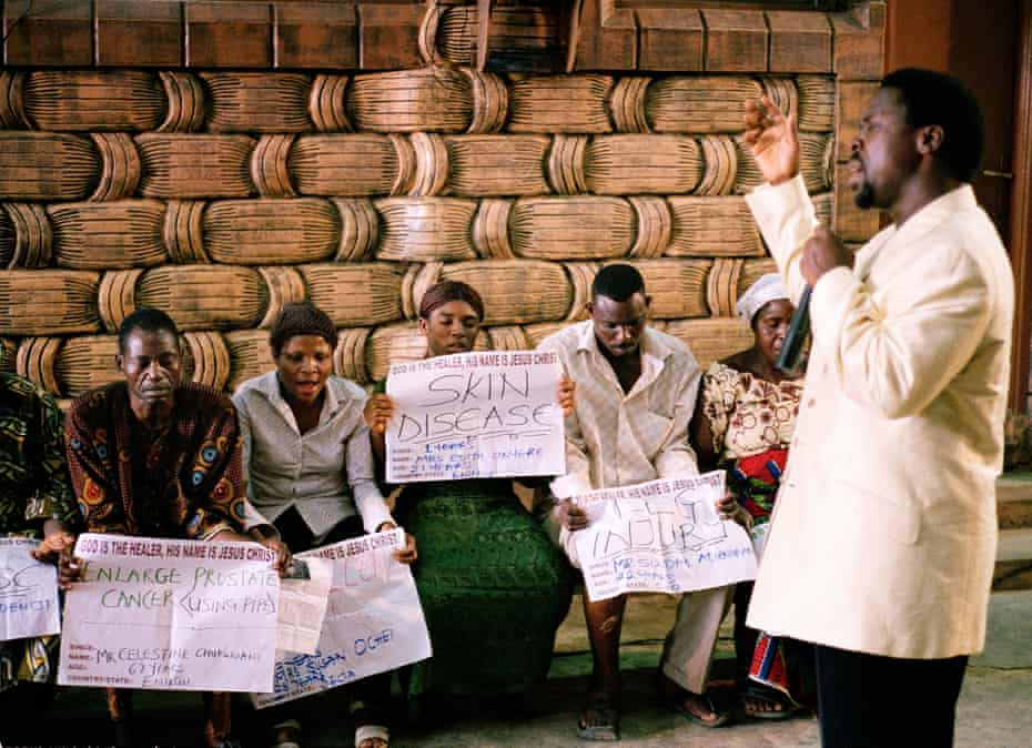 TB Joshua at the Synagogue, Church of all Nations in 2005.