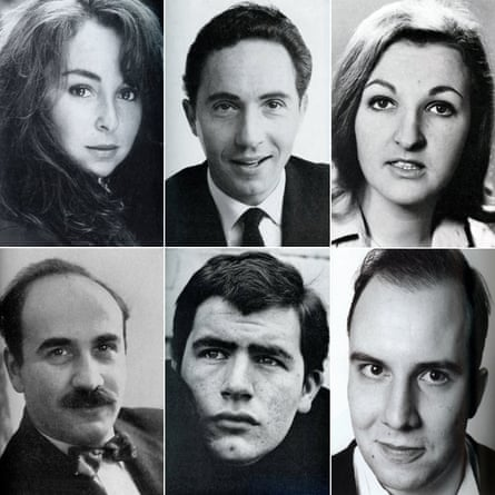 Spotlight actor pictures, clockwise from top left: Samantha Spiro, Nigel Hawthorne, Penelope Keith, Paul Chahidi, Brian Cox and Warren Mitchell.
