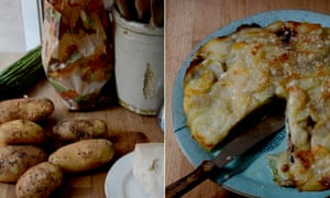 Rachel Roddy makes Carla's potato and mushroom bake.