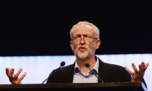 Jeremy Corbyn addressing the TUC Conference.