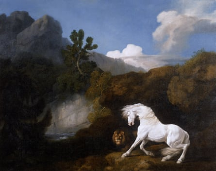 One of the most subversive of all the great artists… George Stubbs, Horse Frightened by a Lion (1770).