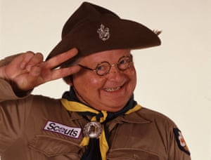 Benny Hill in scouts uniform