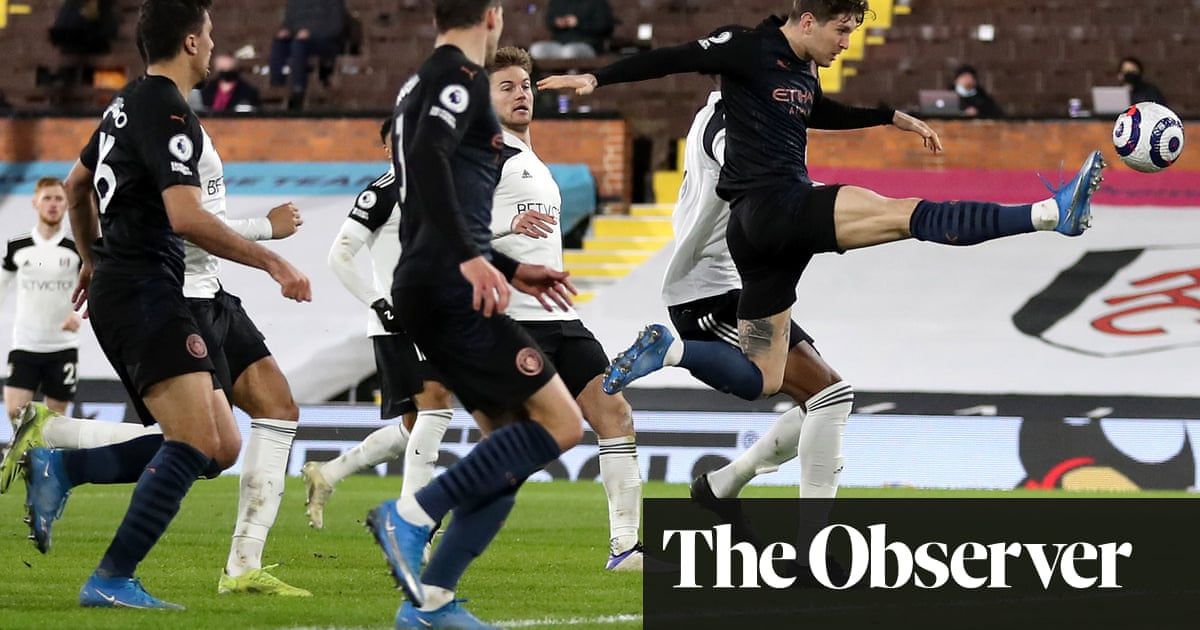 John Stones sparks second-half goal rush for Manchester City at Fulham