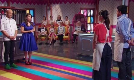 Rachel Khoo (second left) on Zumbo's Just Desserts.