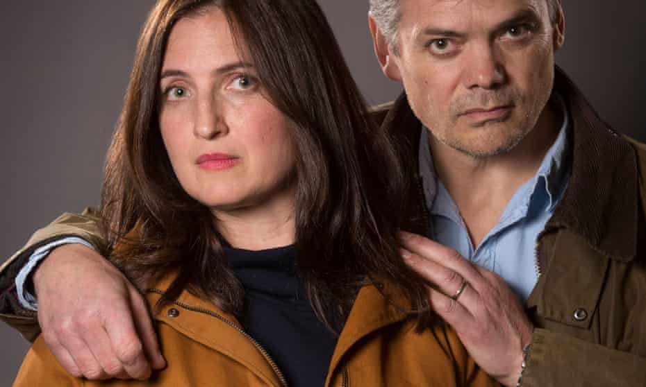 Helen Archer (Louiza Patikas) and Rob Titchener (Timothy Watson) from the BBC Radio 4 soap, The Archers.