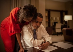 The Obamas in a hotel room on Super Tuesday. Michelle looks over Barack's remarks to supporters before an election night rally. In a surprising twist, Obama surpassed Hillary Clinton in delegate numbers