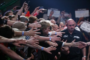 <strong>Auckland, New Zealand </strong>The crowd enjoy the spectacle during the Auckland Darts Masters at The Trusts Arena