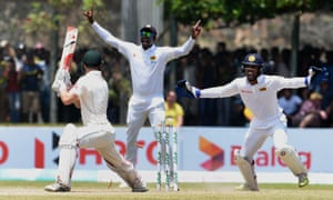 Adam Voges loses his wicket during the second Test