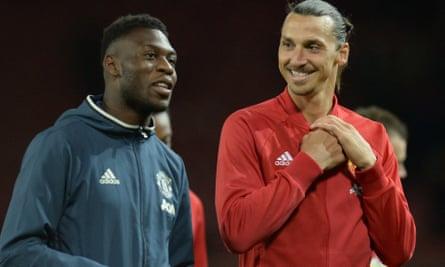 Timothy Fosu-Mensah chats with Zlatan Ibrahimovic