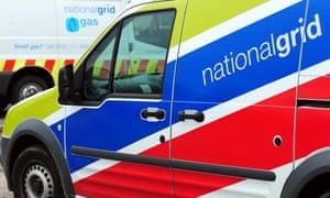 National Grid vans