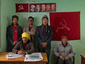 Members of the Communist party of Nepal (Revolutionary Maoist), Pokhara district.