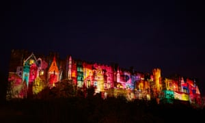 'Fool's Paradise' by Novak projected tales of local history, folklore and famous fables onto the Castle