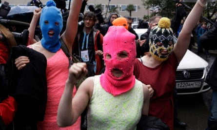 Punk group and political activists Pussy Riot in 2014.