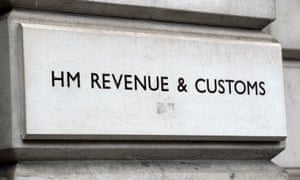 The entrance sign for HM Revenue and Customs.