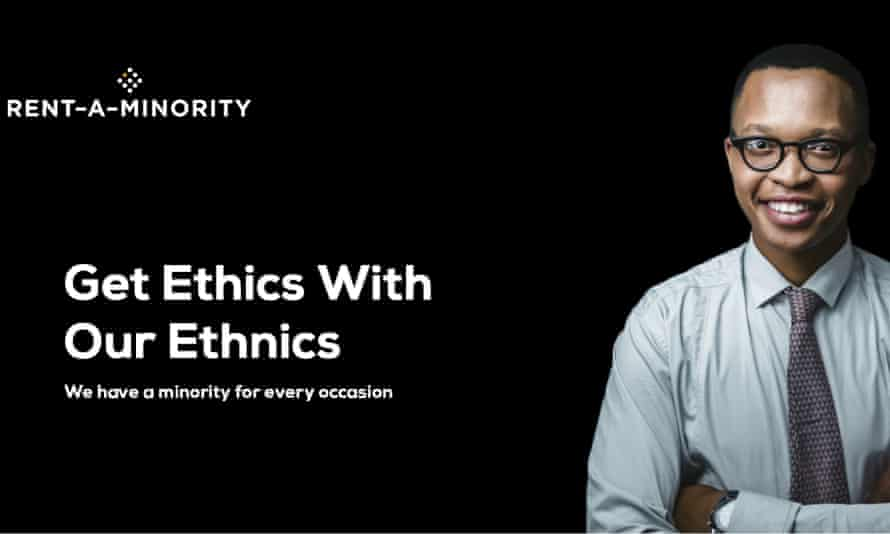 Quash those quotas with the click of a button … Rent-A-Minority's website.