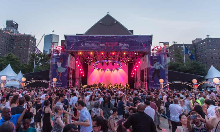 The 'Mid Summer Nights Swing' at the Lincoln Centre in NYC