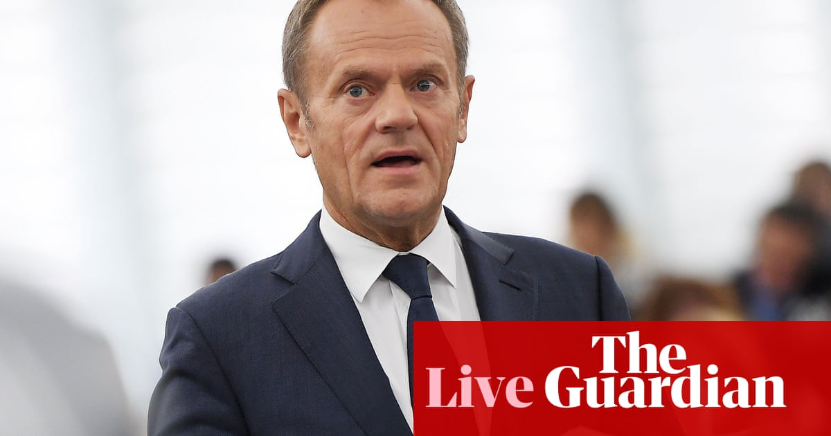 Brexit: EU has agreed Brexit 'flextension' until 31 January 2020, Tusk announces – live news