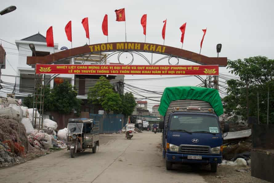 The village of Minh Khai is the center of a waste management cottage industry.