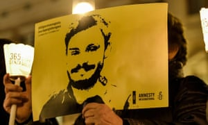 A protest in Rome held a year after Regeni's disappearance.