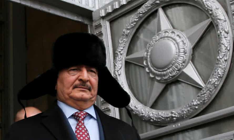 General Khalifa Haftar in Moscow.