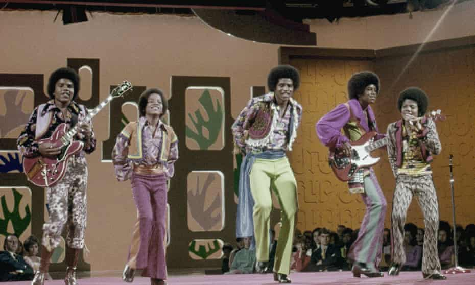 The Jackson Five with Michael Jackson on the far right