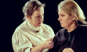 Lawrence sees every character's point of view … Veronica Roberts as Mrs Gascoyne and Tessa Bell-Briggs as Mrs Purdy in The Daughter-in-Law.