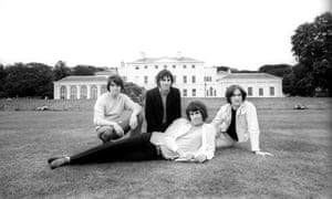 The Kinks in front of Kenwood House on Hampstead Heath in north London.