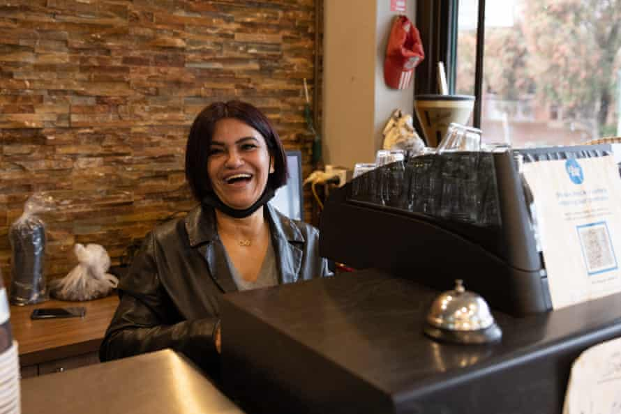Sandy Kourouche, who owns and runs Big Sahara Cafe in western Sydney.