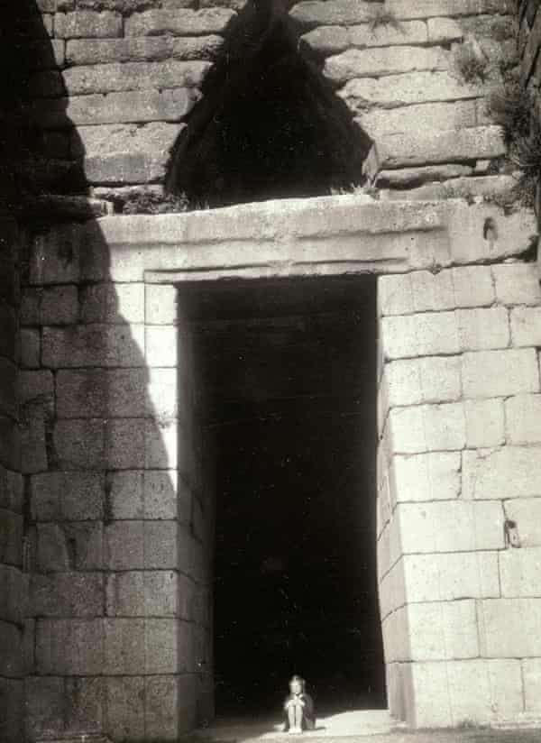 Lisa French at the age of 8 in the entrance to the so-called Treasury of Atreus, a beehive tomb at Mycenae.