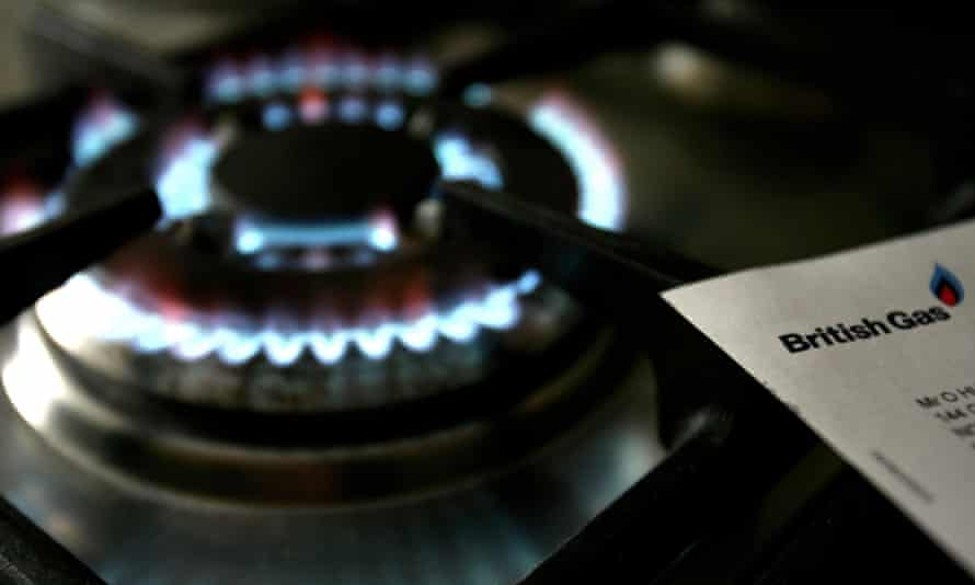 a gas cooker flame and a british gas bill