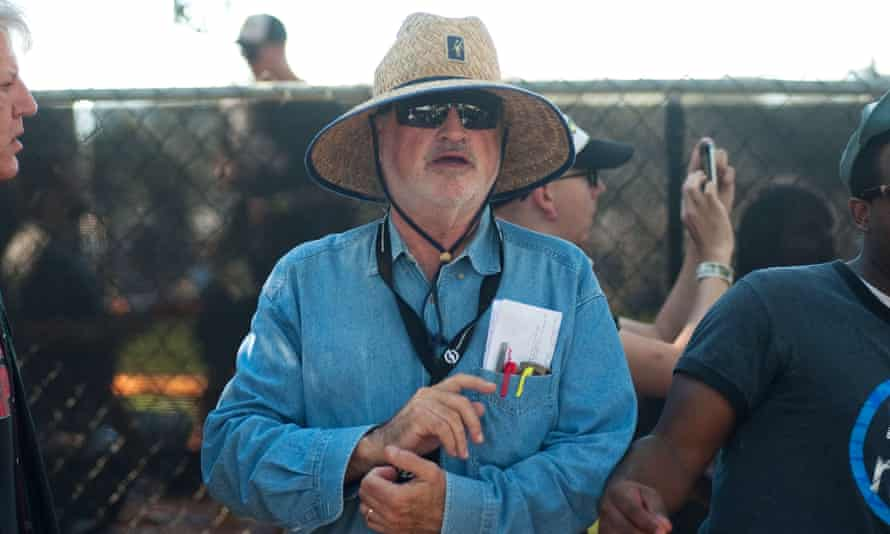 Terrence Malick on the Austin, Texas, set of Weightless.