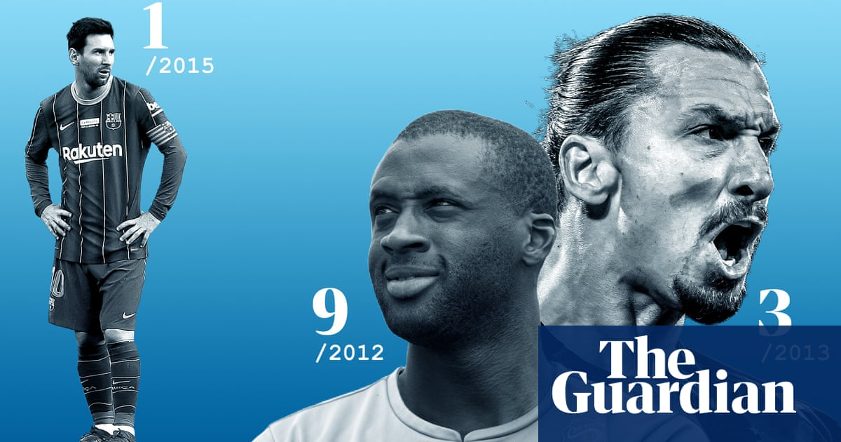 From Touré to Haaland: how our top 100 male footballers list has evolved
