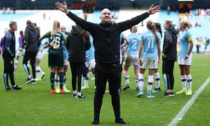 Nick Cushing celebrates beating Manchester United at the Etihad Stadium in September.