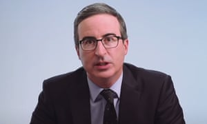 John Oliver, seen on his HBO show.