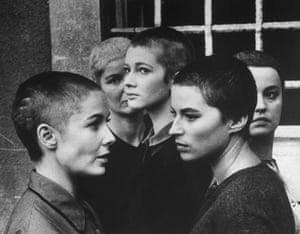 Vera Miles, Barbara Bel Geddes, Carla Gravina, Silvana Mangano and Jeanne Moreau in Five Branded Women, 1960