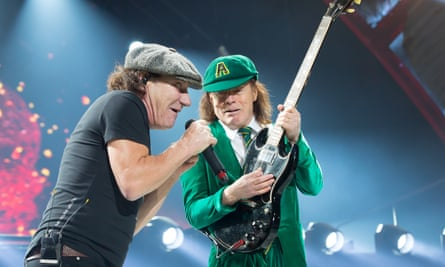 Brian Young and Angus Young of AC/DC