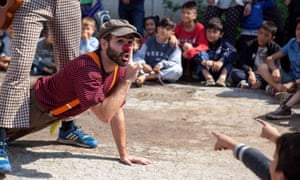 Clowns without Borders on a tour to Greek refugee camps.