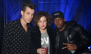 Partners in grime: Annie Mac with Mark Ronson and Dizzee Rascal.